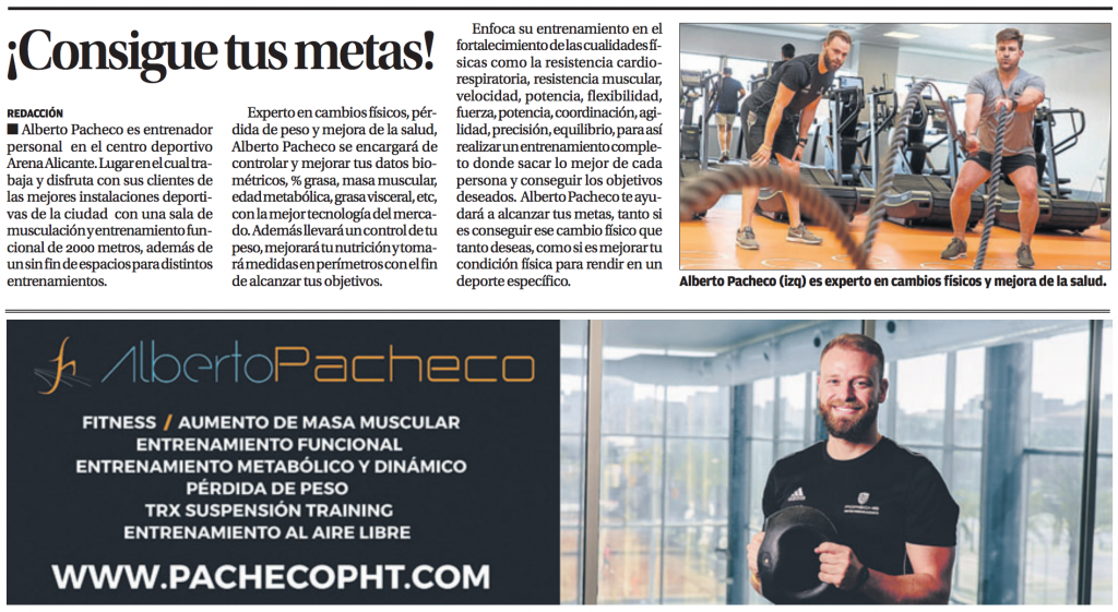 diario Información - Entrenador Personal Alicante